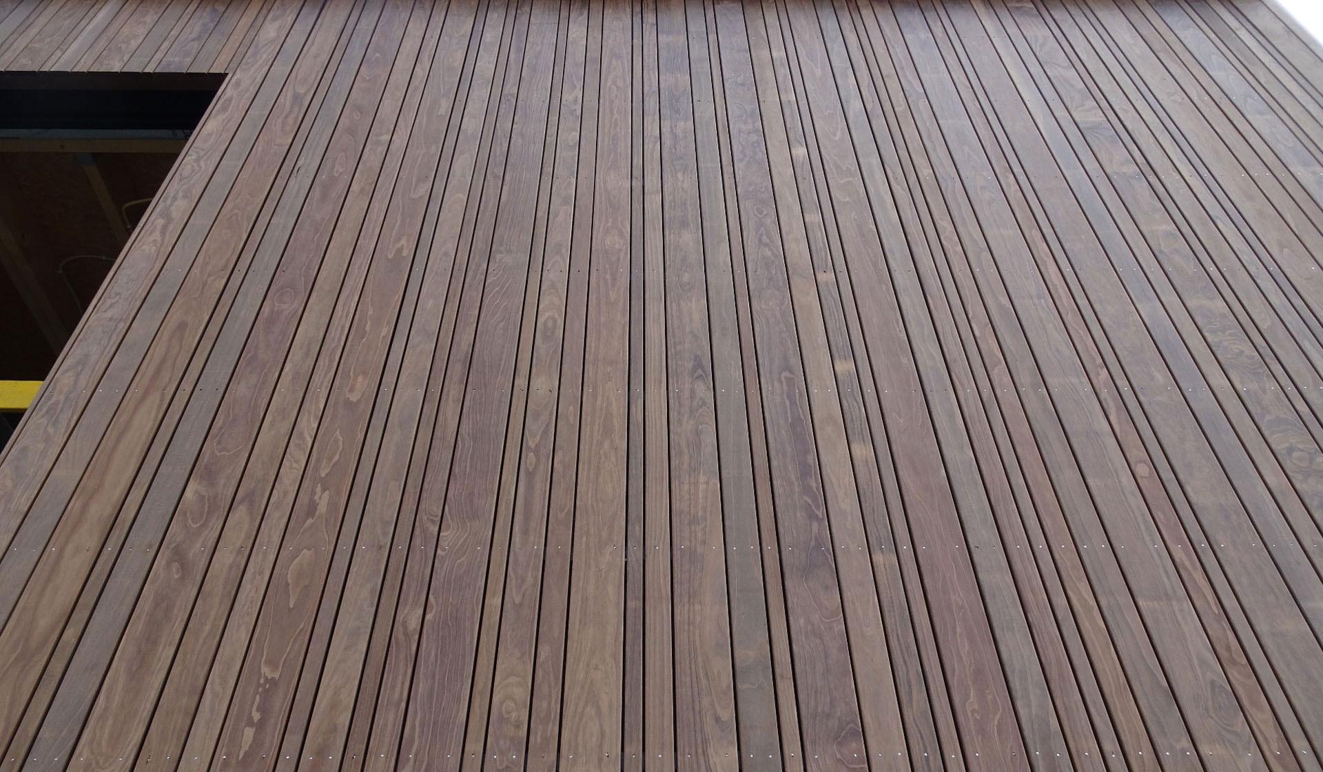 detail houten gevelbekleding
